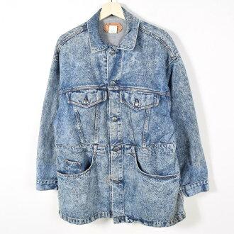 李維斯75075 0219 USA製造粗斜紋布短大衣人L Levi's/wez4244