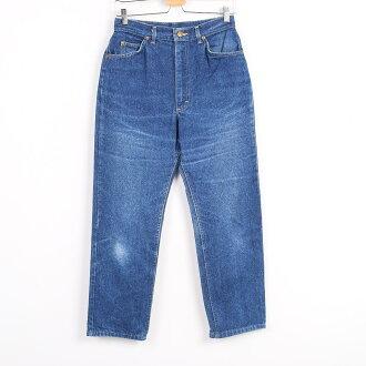 70-80年代ri Lee RIDERS riraidasu USA製造牛仔褲筆直牛仔褲女士w32復古Lee/wez6524