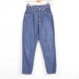 70年代ri Lee RIDERS riraidasu USA製造深藏青色錐形牛仔褲牛仔褲女士w31 TALON jippuvinteji Lee/wez6525