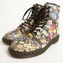 ドクターマーチン 英国製 花柄 8ホールブーツ UK7 メンズ25.5cm Dr.Martens /bok9151 【中古】 【170410】