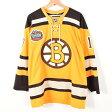リーボック NHL BOSTON BRUINS ボストンブルーインズ カナダ製 ゲームシャツ レプリカユニフォーム メンズM Reebok /waa2594 【中古】 【170620】