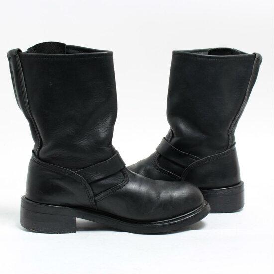 1593f1312e8 UNKNOWN genuine leather leather steel toe engineer boots 6E Lady's 23.5cm  /boj9565