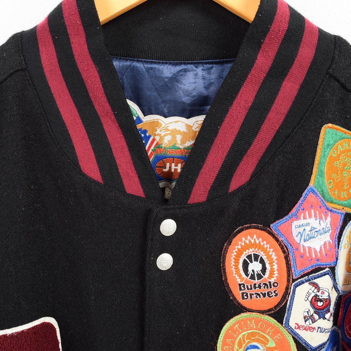 2c5a6bd2c7 JEFF HAMILTON ウールスタジャン アワードジャケット / フリーサイズ. 価格32,400円(税込) / 商品番号 waj7558