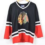 スターター Starter NHL CHICAGO BLACKHAWKS シカゴブラックホークス ホッケーシャツ ゲームシャツ メンズL /waj4905 【中古】 【171103】