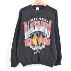 JOSTENS Chicago Blackhawks シカゴ ブラックホークス プリントスウェットシャツ トレーナー USA製 メンズM /wak4887 【中古】 【171105】