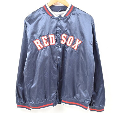 Mighty Mac Sports MLB BOSTON RED SOX ボストンレッドソックス ナイロンスタジャン アワードジャケット メンズM /wal5347 【中古】【古着屋JAM】【古着屋JAM】 【180220】【SS1812】