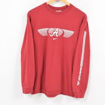 ナイキ NIKE TEAM ロングTシャツ ロンT 袖プリント メンズS /wap2539 【中古】 【180320】【PD1806】