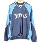 NFL TENNESSEE TITANS テネシー タイタンズ ウォームアッププルオーバー メンズL /wam9410 【中古】 【180507】