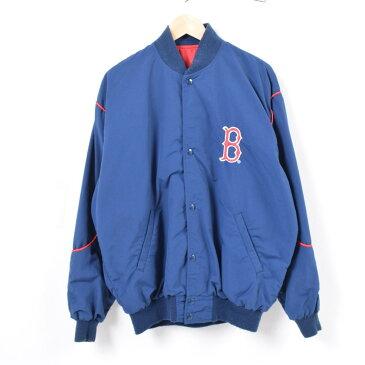 スターター Starter MLB BOSTON REDSOX ボストンレッドソックス ナイロンスタジャン アワードジャケット USA製 メンズL /waq6579 【中古】 【180727】