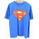SUPERMAN スーパーマン キャラクタープリントTシャツ メンズL /was6494 【中古】【古着屋JAM】 【180622】