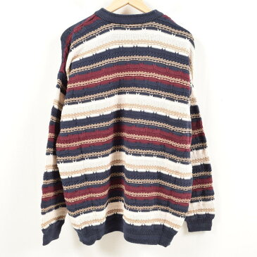 CAPEISLE KNITTERS クージー風 総柄 コットンニットセーター メンズXL /wal1255 【中古】 【180809】