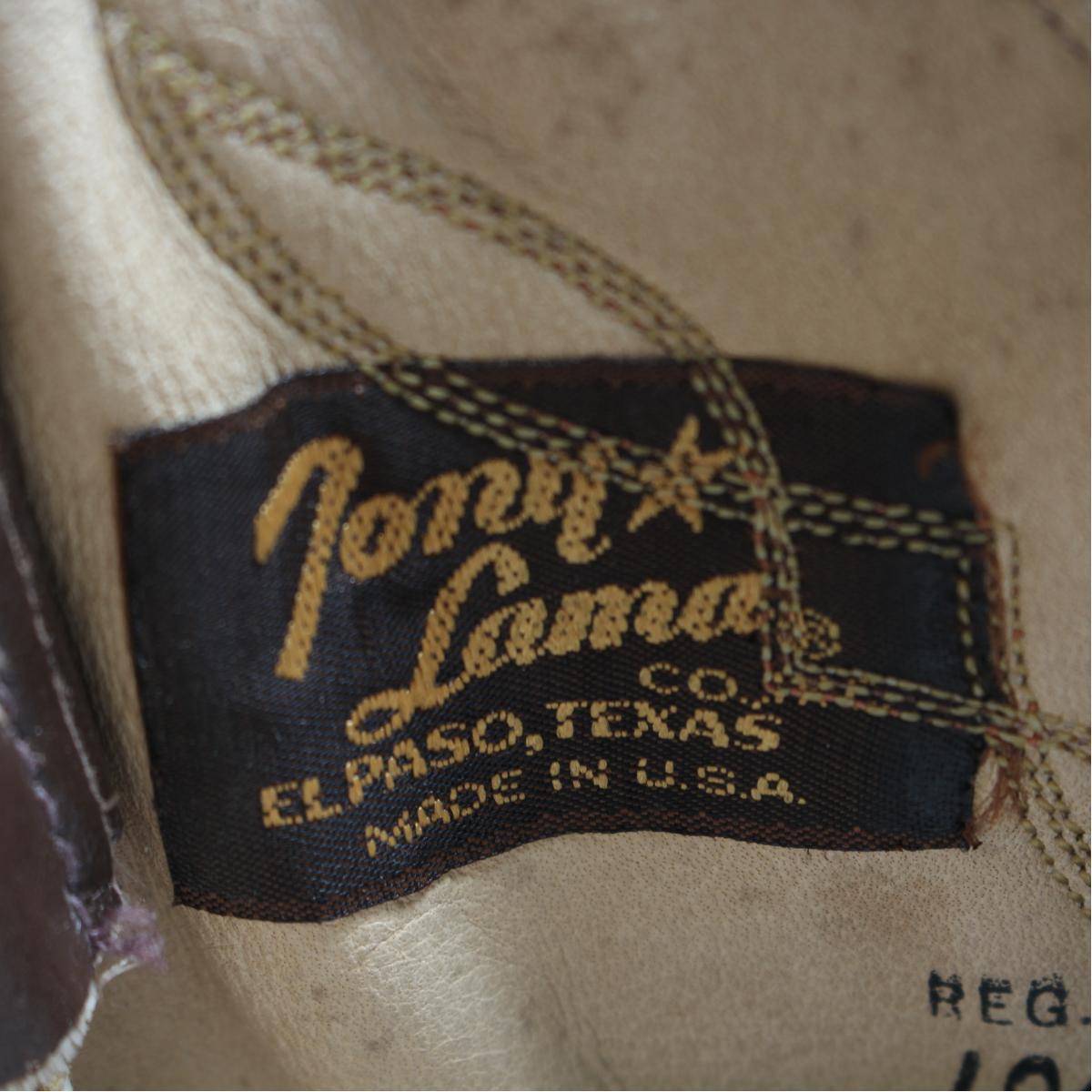 6190105e28a Tony llama Tony Lama gold label lizard leather western boots 8D men 26.5cm  vintage /bon6421