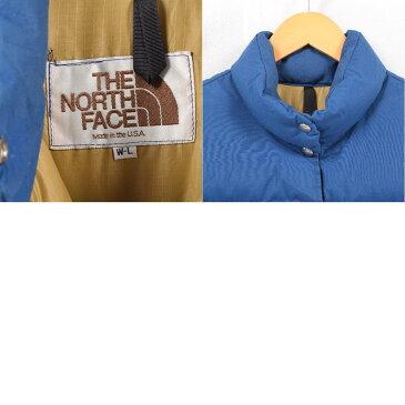 80年代 ザノースフェイス THE NORTH FACE 茶タグ ダウンベスト USA製 レディースL ヴィンテージ /waw1640 【中古】 【181119】