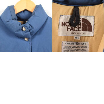 70~80年代 ザノースフェイス THE NORTH FACE 茶タグ ダウンベスト USA製 レディースL ヴィンテージ /wat2549 【中古】 【181120】