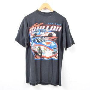 TRITON Jeff Burton ジェフバートン レーシングカー プリントTシャツ メンズL グラフィックTシャツ /wbd5456 【中古】 【190422】【SS1909】【PD2001】【CS2003】【SS2006】【SS2007】【CS2007】【SS2009】