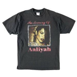 ジャージーズ Jerzees Aaliyah アリーヤ TRY AGAIN 1979-2001 追悼バンドTシャツ メンズXL /wbb7142 【中古】 【190502】