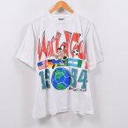 90年代 FAVORITES WORLD CUP 94 FIFAワールドカップ USA 1994 ロゴプリントTシャツ メンズL /wbb9073 【中古】 【190509】【SS1909】