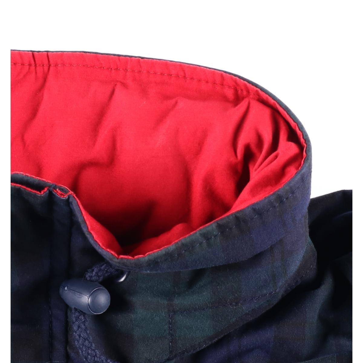 90s トミーヒルフィガー TOMMY HILFIGER Black Watch check food storing model sailing down jacket men XL wbf3010