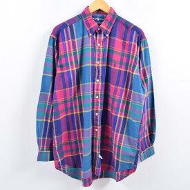 Ralph Laurenボタンダウンチェックシャツ