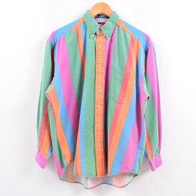 90sTOMMY HILFIGERボタンダウンストライプシャツ