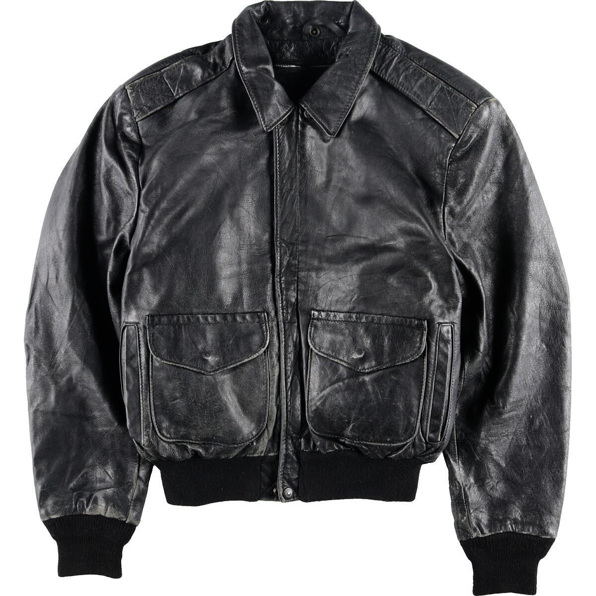 古着屋JAMのショットレザーフライトジャケット