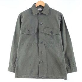 70s SHIRT MANS CTN SATEEN OG 107 ミリタリー ユーティリティシャツ