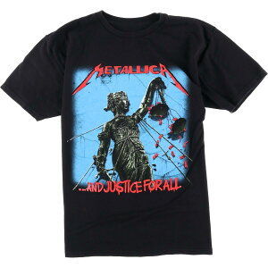 METALLICA メタリカ ...AND JUSTICE FOR ALL バンドTシャツ メンズM /eaa010788 【中古】 【200306】