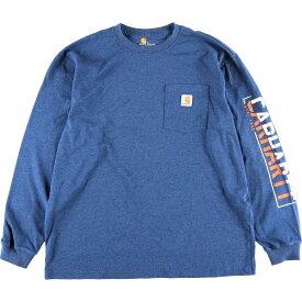 Carhartt ORIGINAL FIT 袖プリント ロングTシャツ