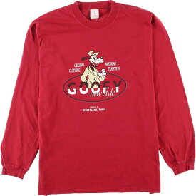 DISNEY FASHIONS GOOFY キャラクタープリント ロングTシャツ