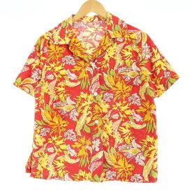 総柄 ハワイアンアロハシャツ