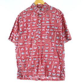REYNSPOONER 金タグ ハワイアンアロハシャツ