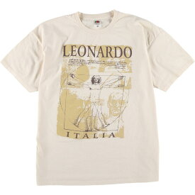 FRUIT OF THE LOOM LEONARDO DA VINCI アートTシャツ