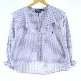 Ralph Lauren 長袖ビッグカラーリメイクシャツ