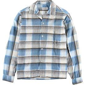 SPORTOP 長袖 プリントネル ボックスシャツ