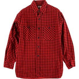 Penney's 長袖 プリントネル ボックスシャツ