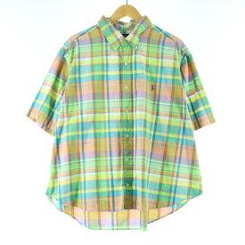 Ralph Lauren 半袖 ボタンダウンチェックシャツ