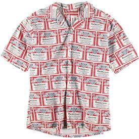 60〜70s UNKNOWN BUDWEISER オープンカラーコットンシャツ