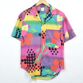 80s Ocean pacific 青タグ ハワイアンアロハシャツ