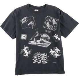 90s ANDAZIA MAURITS ESCHER アートTシャツ