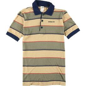 80s adidas 半袖 ボーダーポロシャツ