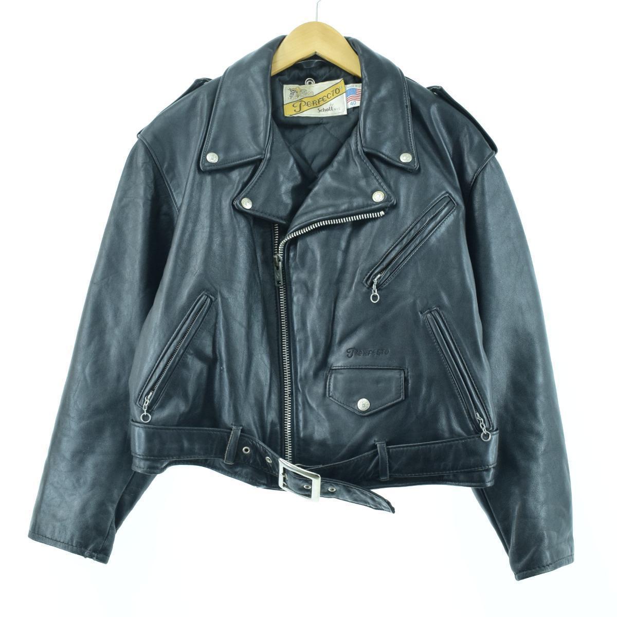古着屋JAMのショットライダースジャケット