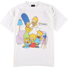 80s Changes THE SIMPSONS キャラクタープリントTシャツ
