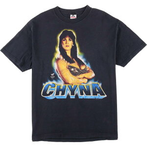 90年代 ALSTYLE APPAREL & ACTIVEWEAR WWF CHYNA チャイナ 9th WONDER of the WORLD プロレス プリントTシャツ メンズL ヴィンテージ /eaa068750 【中古】 【200803】【JS2010】