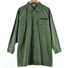 60s SHIRT MAN'S COTTON SATEEN OG-107 ミリタリー ユーティリティシャツ