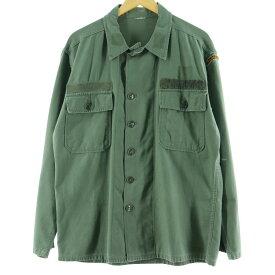 60s 筒袖 1stモデル初期 ミリタリー ユーティリティシャツ