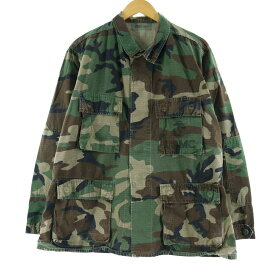 90s COAT HOT WEATHER WOODLAND CAMOUFLAGE PATTERN COMBAT B.D.U ミリタリーシャツ
