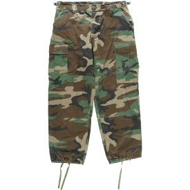 90s TROUSERS HOT WEATHER WOODLAND CAMOUFLAGE PATTERN COMBAT ミリタリー カーゴパンツ