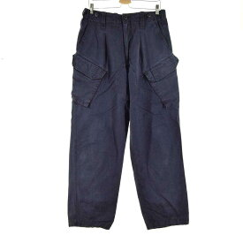 TROUSERS COMBAT NAVY BLUE FR ミリタリー カーゴパンツ