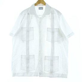 D'Accord 半袖 メキシカンシャツ キューバシャツ
