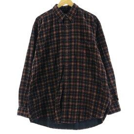 90s NAUTICA 長袖 ボタンダウン コーデュロイシャツ